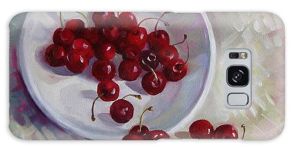 Plate With Cherries Galaxy Case