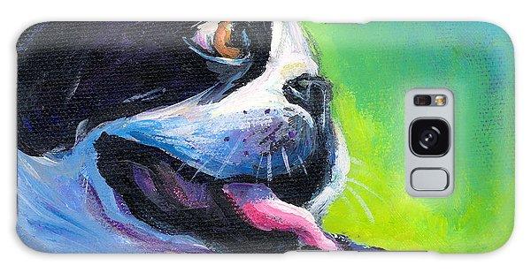 Playful Boston Terrier Galaxy Case