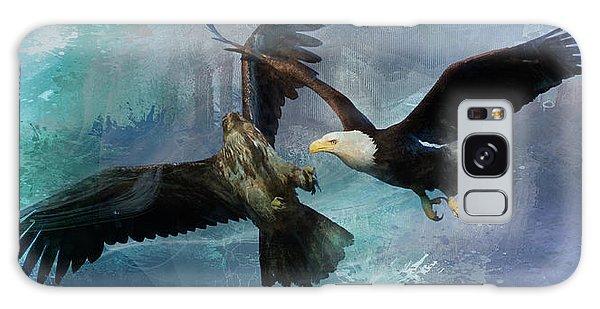 Playful Eagles Galaxy Case