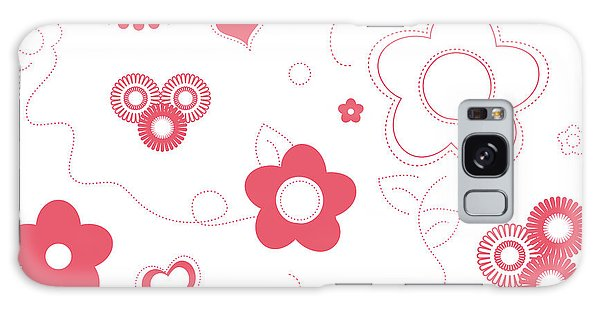 Playful Flower Background Galaxy Case by Serena King