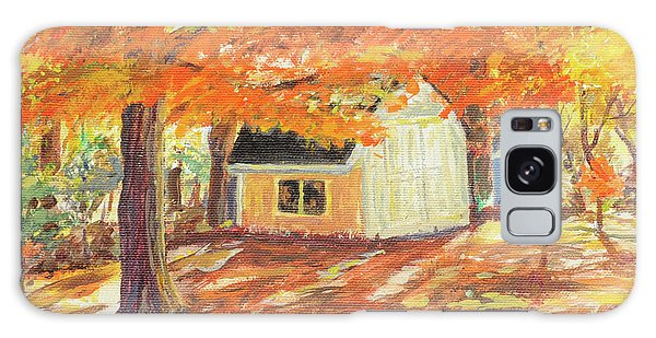 Playhouse In Autumn Galaxy Case by Carol L Miller