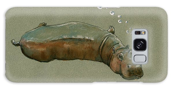 Hippopotamus Galaxy S8 Case - Playing Hippo by Juan  Bosco