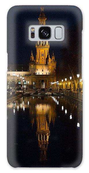 Plaza De Espana At Night - Seville 6 Galaxy Case by Andrea Mazzocchetti