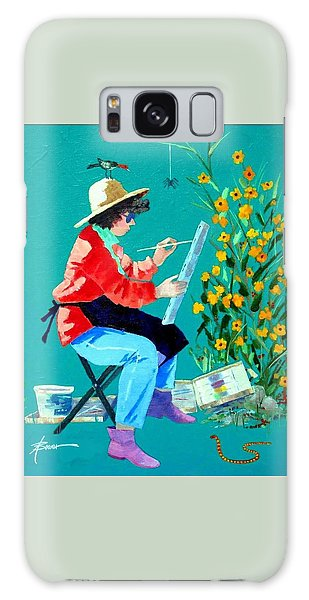 Plein Air Painter  Galaxy Case