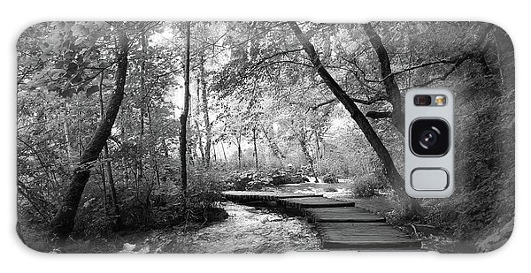 Plitvice In Black And White Galaxy Case