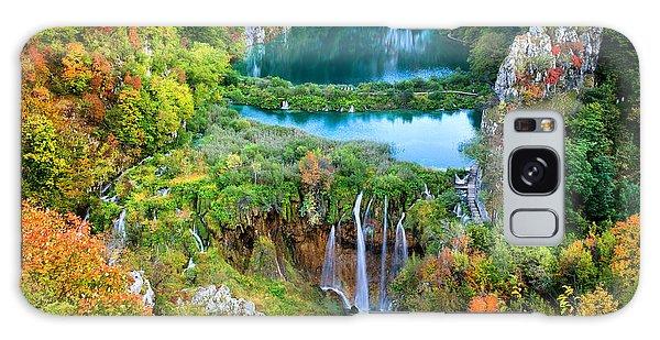 Plitvice Lakes In Croatia Galaxy Case