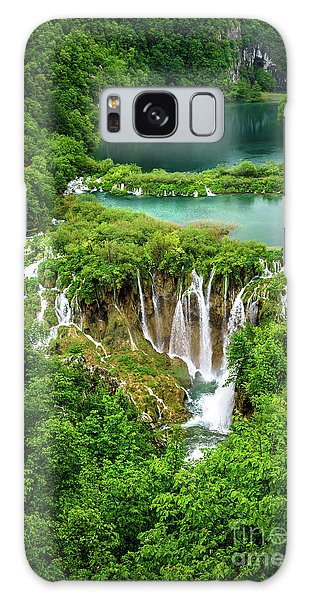 Plitvice Lakes National Park - A Heavenly Crystal Clear Waterfall Vista, Croatia Galaxy Case