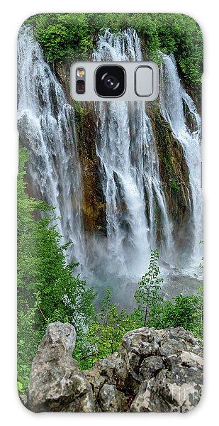 Plitvice Lakes Waterfall - A Balkan Wonder In Croatia Galaxy Case