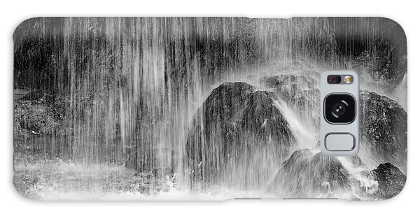 Plitvice Waterfall Black And White Closeup - Plitivice Lakes National Park, Croatia Galaxy Case