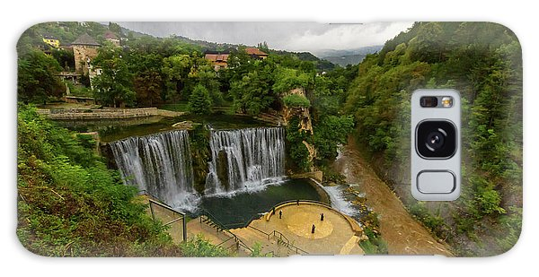 Pliva Waterfall, Jajce, Bosnia And Herzegovina Galaxy Case