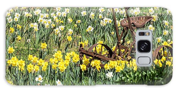 Plow In Field Of Daffodils Galaxy Case