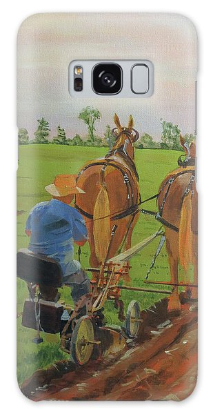 Galaxy Case featuring the painting Plowing Match by David Gilmore