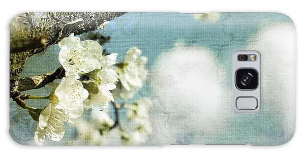Plum Blossoms And Puffy Clouds Galaxy Case
