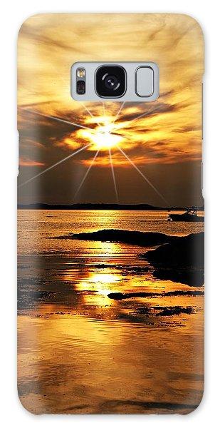 Plum Cove Beach Sunset E Galaxy Case