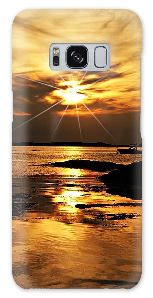 Plum Cove Beach Sunset E Galaxy Case by Joe Faherty