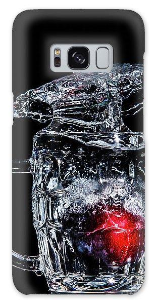 Galaxy Case featuring the photograph Plum Splash by Ray Shiu