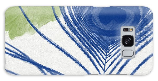 Peacocks Galaxy Case - Plumage 3- Art By Linda Woods by Linda Woods