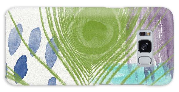 Peacocks Galaxy Case - Plumage 4- Art By Linda Woods by Linda Woods