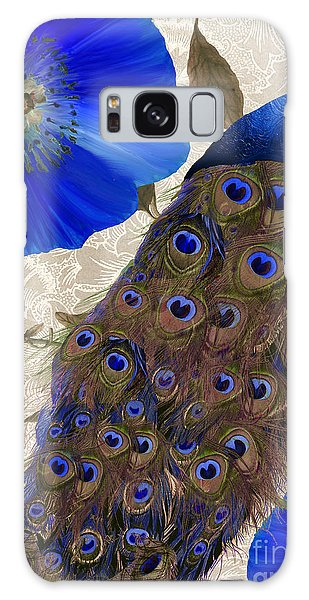 Peacocks Galaxy Case - Plumage by Mindy Sommers