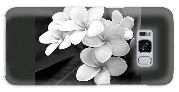Plumeria - Black And White Galaxy Case