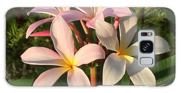 Plumeria Heaven Galaxy Case by LeeAnn Kendall