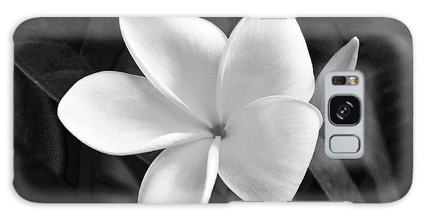 Plumeria In Monochrome Galaxy Case