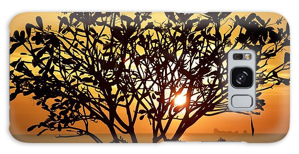 Plumeria Sunset Galaxy Case by Colleen Williams