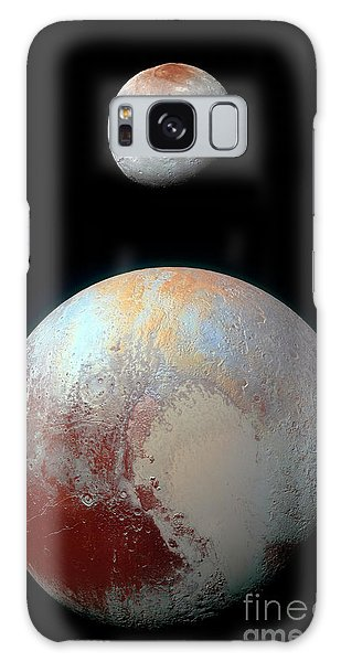 Pluto And Charon Galaxy Case by Nicholas Burningham