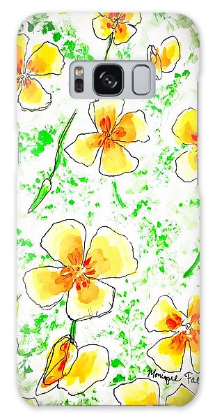 Pocket Full Of Poppies Galaxy Case