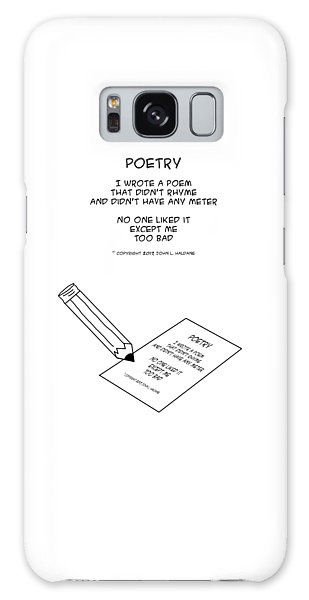 Galaxy Case featuring the drawing Poetry by John Haldane