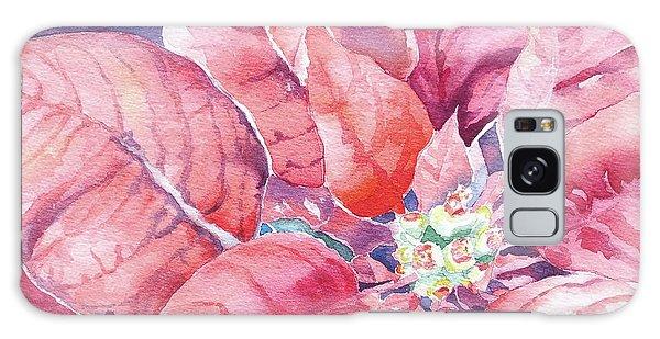 Poinsettia Glory Galaxy Case