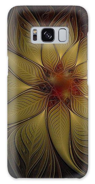 Poinsettia In Gold Galaxy Case