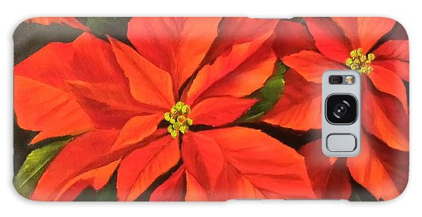 Poinsettia  Galaxy Case