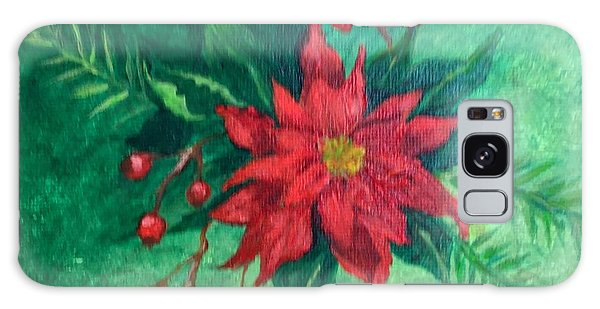 Poinsettia Galaxy Case by Lucia Grilletto