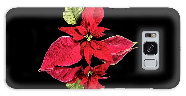 Poinsettia Reflection  Galaxy Case