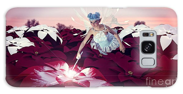 Poinsettia Snow Fairy Galaxy Case by Methune Hively