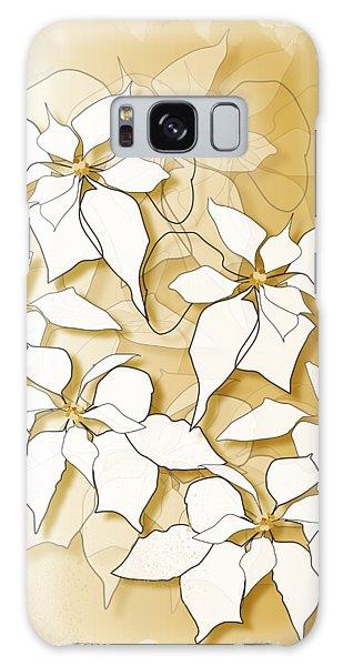 Poinsettias Galaxy Case