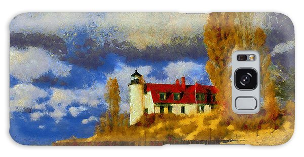 Point Betsie Lighthouse Galaxy Case by Kai Saarto