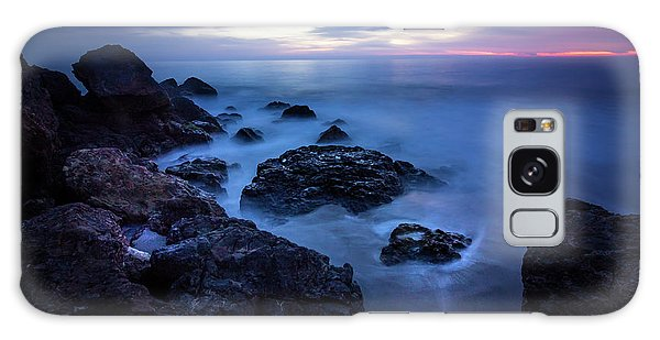 Point Dume Rock Formations Galaxy Case