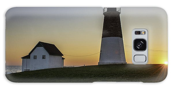 Point Judith Light At Sunset Galaxy Case