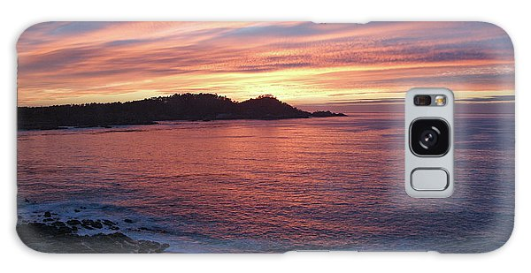 Point Lobos Red Sunset Galaxy Case