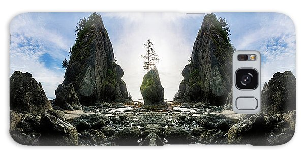Sea Stacks Galaxy Case - Point Of The Arches Reflection by Pelo Blanco Photo