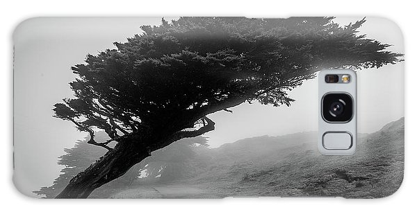 Point Reyes Fog Black And White Galaxy Case