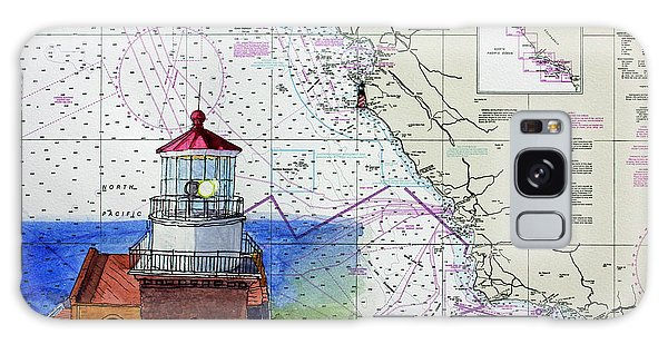 Point Sur Light Station Galaxy Case by Mike Robles
