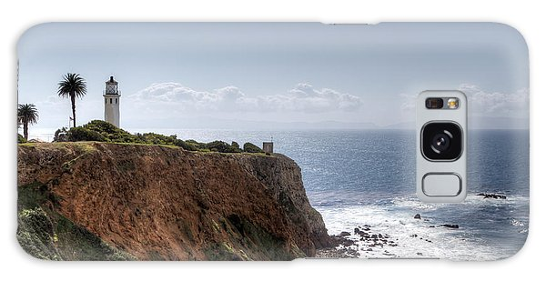 Point Vicente Lighthouse In Winter Galaxy Case by Heidi Smith