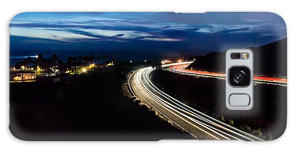 Point Vincente Light Trails Galaxy Case