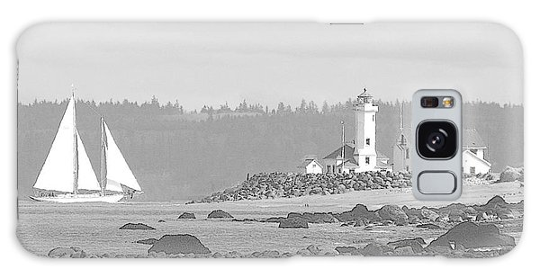 Point Wilson Lighthouse And Sailboat Galaxy Case