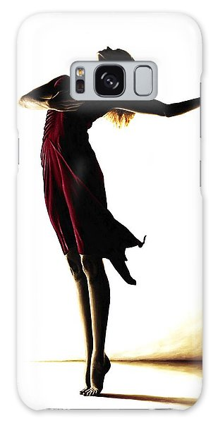 Ballerina Galaxy Case - Poise In Silhouette by Richard Young