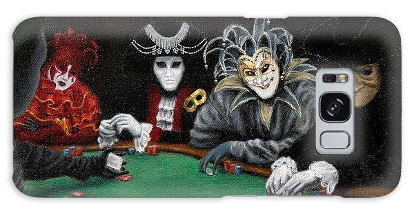 Poker Face Galaxy Case by Jason Marsh