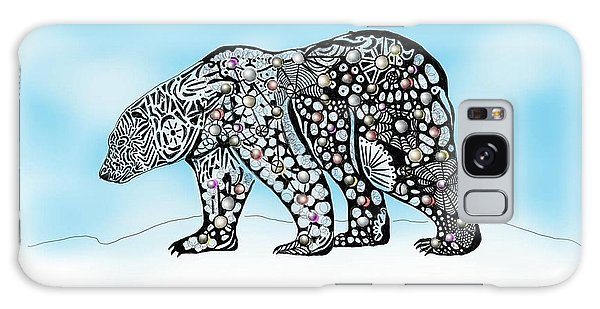 Galaxy Case featuring the digital art Polar Bear Doodle by Darren Cannell